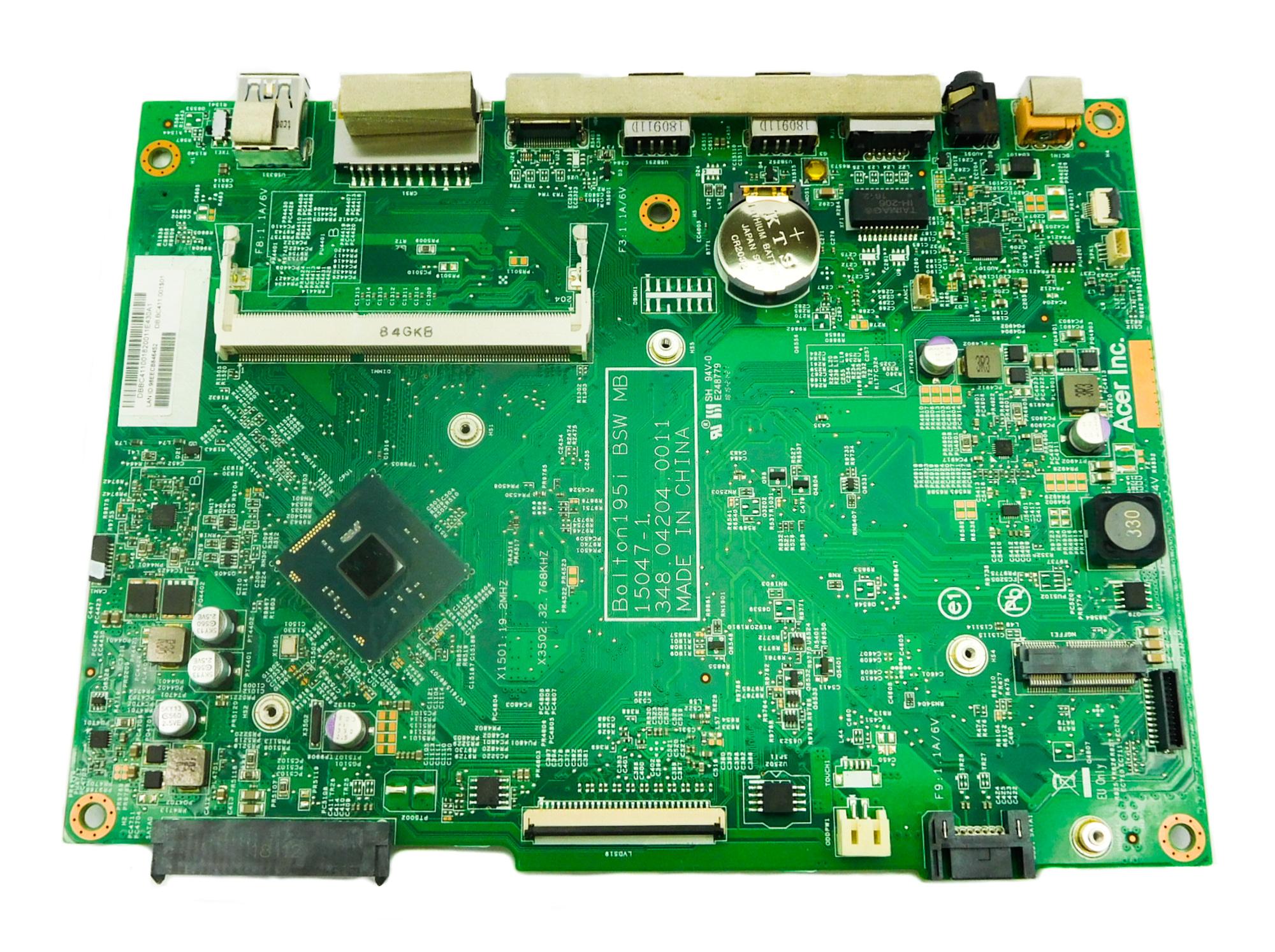 Acer DB.BC411.001 C20-820 AiO PC Motherboard /w BGA Pentium J3060 CPU